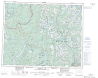 082M Seymour Arm Canadian topographic map, 1:250,000 scale