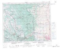 082O Calgary Canadian topographic map, 1:250,000 scale