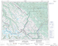 083C Brazeau Lake Canadian topographic map, 1:250,000 scale
