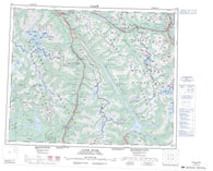 083D Canoe River Canadian topographic map, 1:250,000 scale
