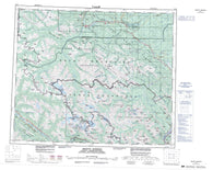 083E Mount Robson Canadian topographic map, 1:250,000 scale