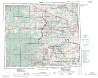 083G Wabamun Lake Canadian topographic map, 1:250,000 scale