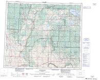 083I Tawatinaw Canadian topographic map, 1:250,000 scale