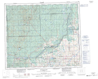 083J Whitecourt Canadian topographic map, 1:250,000 scale