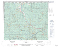 083K Iosegun Lake Canadian topographic map, 1:250,000 scale