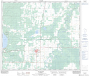 083N03 Valleyview Canadian topographic map, 1:50,000 scale from Alberta Map Store