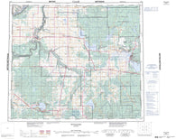083N Winagami Canadian topographic map, 1:250,000 scale