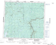 084A Algar Lake Canadian topographic map, 1:250,000 scale