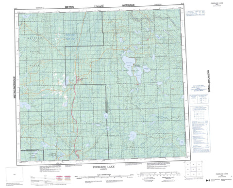 084B Peerless Lake Canadian topographic map, 1:250,000 scale