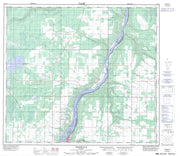 084C06 Weberville Canadian topographic map, 1:50,000 scale from Alberta Map Store