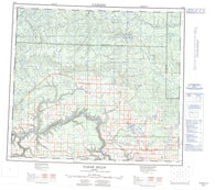 084D Clear Hills Canadian topographic map, 1:250,000 scale