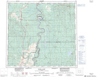 084F Bison Lake Canadian topographic map, 1:250,000 scale