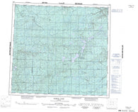 084H Namur Lake Canadian topographic map, 1:250,000 scale