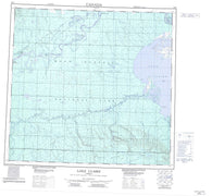 084I Lake Claire Canadian topographic map, 1:250,000 scale