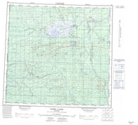 084L Zama Lake Canadian topographic map, 1:250,000 scale