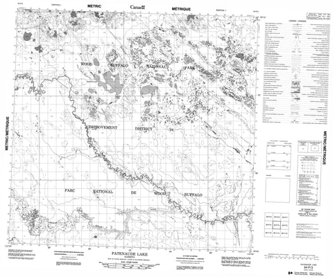 084P03 Patenaude Lake Canadian topographic map, 1:50,000 scale