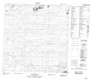085E06 No Title Canadian topographic map, 1:50,000 scale from Northwest Territories Map Store