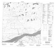 085E07 Axe Point Canadian topographic map, 1:50,000 scale from Northwest Territories Map Store