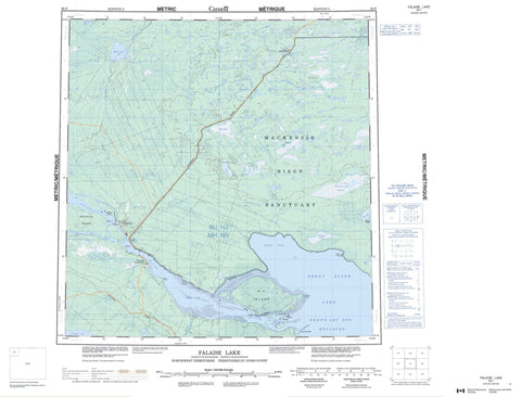 085F Falaise Lake Canadian topographic map, 1:250,000 scale