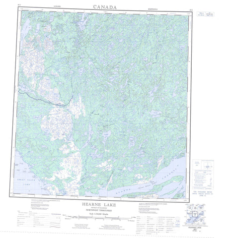 085I Hearne Lake Canadian topographic map, 1:250,000 scale