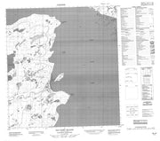 085J06 Old Fort Island Canadian topographic map, 1:50,000 scale from Northwest Territories Map Store