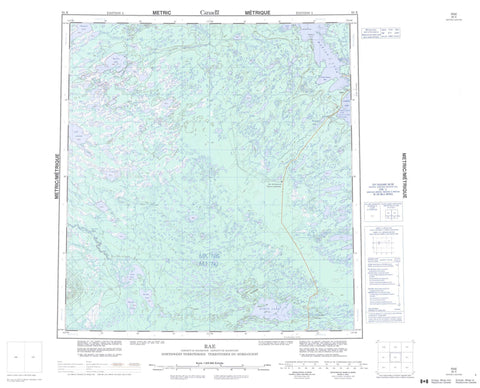 085K Rae Canadian topographic map, 1:250,000 scale