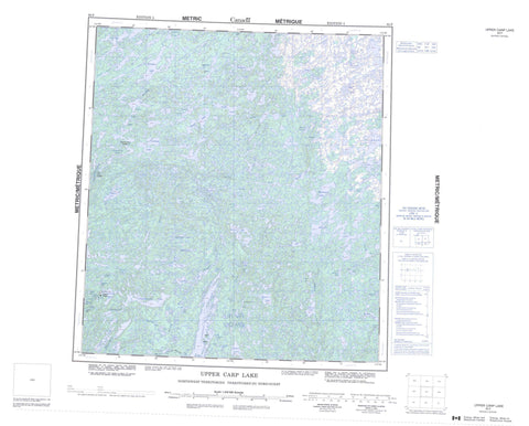085P Upper Carp Lake Canadian topographic map, 1:250,000 scale