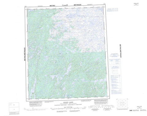 086B Indin Lake Canadian topographic map, 1:250,000 scale