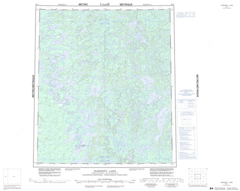 086C Hardisty Lake Canadian topographic map, 1:250,000 scale