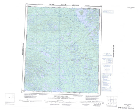 086D Riviere Grandin Canadian topographic map, 1:250,000 scale