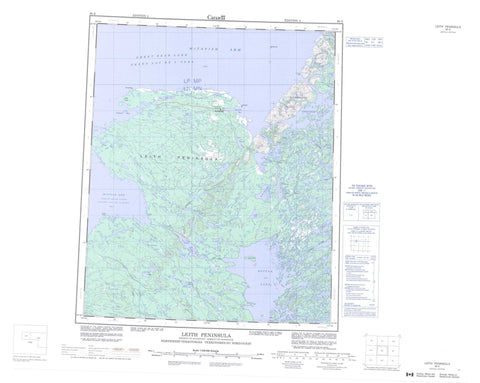086E Leith Peninsula Canadian topographic map, 1:250,000 scale