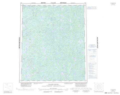 086F Calder River Canadian topographic map, 1:250,000 scale
