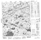086G07 No Title Canadian topographic map, 1:50,000 scale from Northwest Territories Map Store