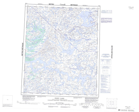 086H Point Lake Canadian topographic map, 1:250,000 scale