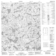 086K01 No Title Canadian topographic map, 1:50,000 scale from Northwest Territories Map Store