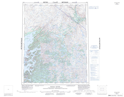 086K Sloan River Canadian topographic map, 1:250,000 scale
