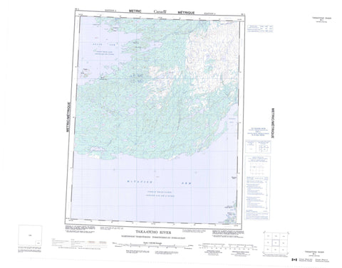 086L Takaatcho River Canadian topographic map, 1:250,000 scale