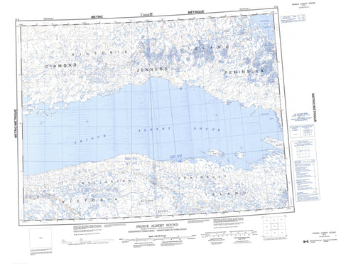087E Prince Albert Sound Canadian topographic map, 1:250,000 scale