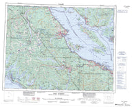 092F Port Alberni Canadian topographic map, 1:250,000 scale