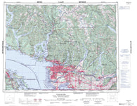 092G Vancouver Canadian topographic map, 1:250,000 scale
