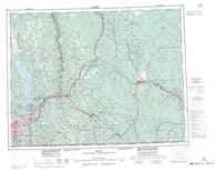 092H Hope Canadian topographic map, 1:250,000 scale