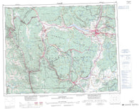 092I Ashcroft Canadian topographic map, 1:250,000 scale
