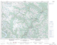 092J Pemberton Canadian topographic map, 1:250,000 scale