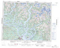 092K Bute Inlet Canadian topographic map, 1:250,000 scale