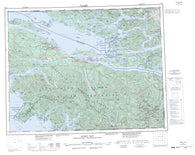 092L Alert Bay Canadian topographic map, 1:250,000 scale