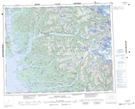 092M Rivers Inlet Canadian topographic map, 1:250,000 scale