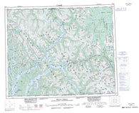 093D Bella Coola Canadian topographic map, 1:250,000 scale