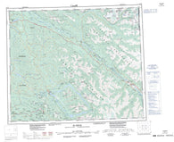 093H Mcbride Canadian topographic map, 1:250,000 scale