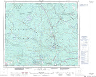 093J Mcleod Lake Canadian topographic map, 1:250,000 scale