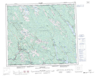 093M Hazelton Canadian topographic map, 1:250,000 scale